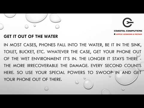 What To Do If Your Phone Accidentally Gets Wet | Coastal Computers | Boca Raton, FL