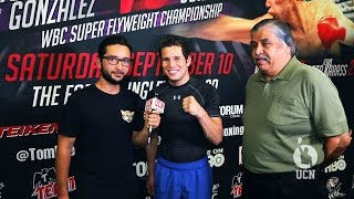 Carlos Cuadras Interview - Open Workout - UCN EXCLUSIVE