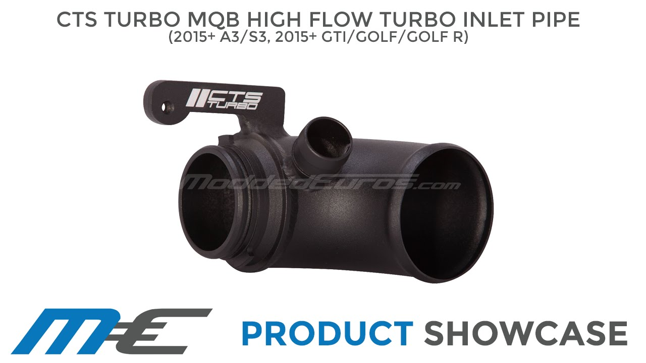 CTS Turbo MQB High Flow Turbo Inlet Pipe (15-16 Golf,GTI,Golf R, A3,S3)