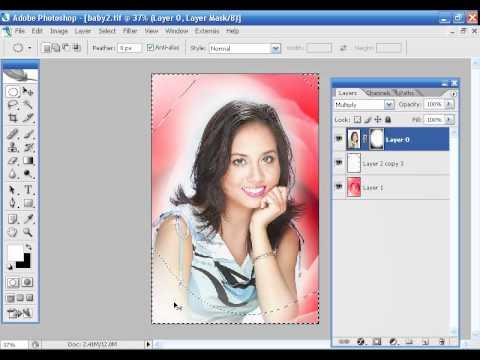 Photoshop CS2 - Phan 8 - Bai 4 - Ghep anh cap toc nho ky thuat layer mask