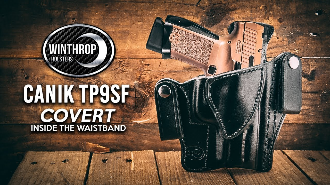 Canik TP9SF Elite Covert IWB Leather Holster By: WinthropHolsters com