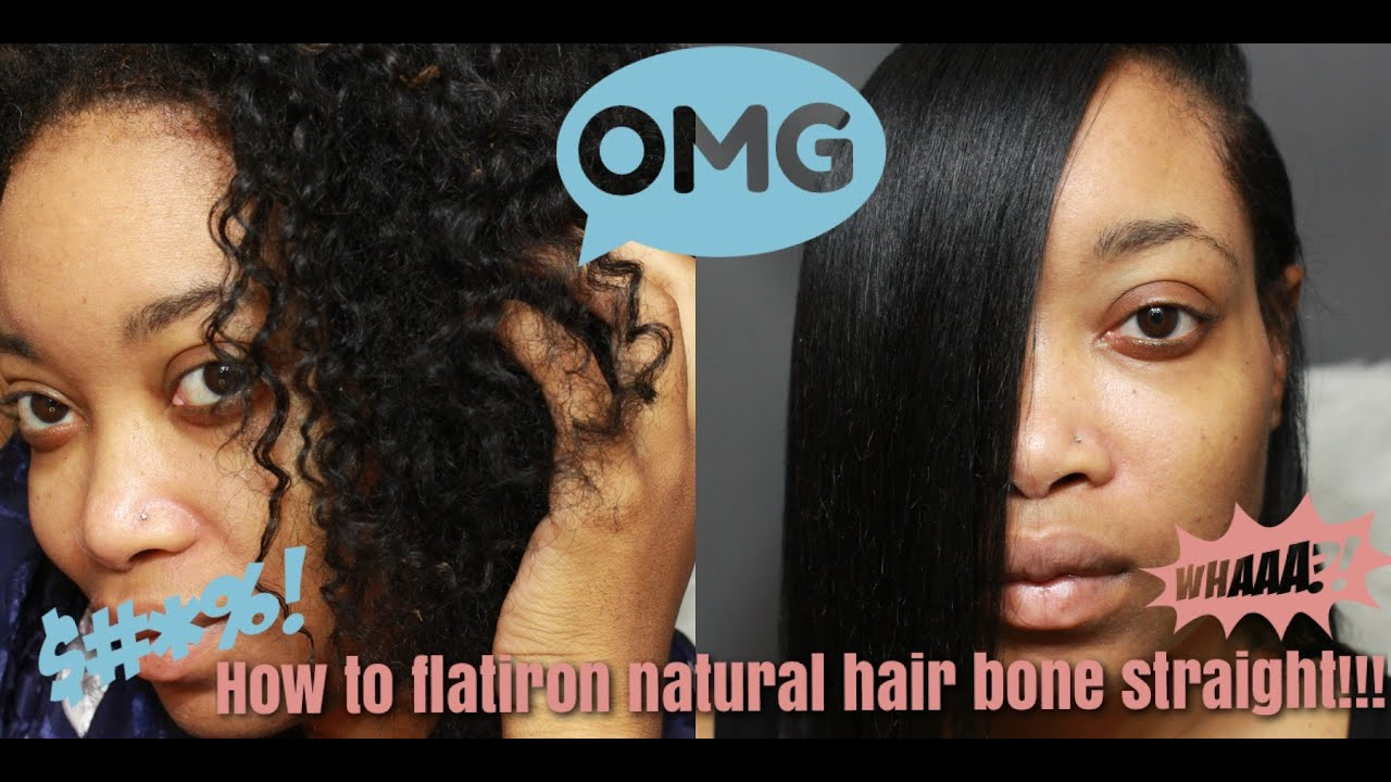 Straight hair perm products - How To Flatiron Natural Hair Bone Straight No Relaxer Natural Products