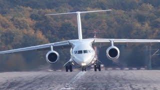 New Antonov! Antonov AN-148 Crosswind Landing At Düsseldorf (HD)
