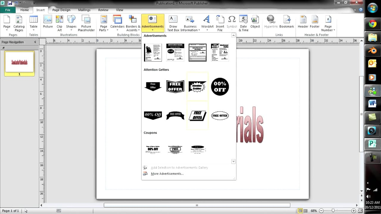 Design banner in publisher - How To Make A Basic Poster In Microsoft Publisher 2010