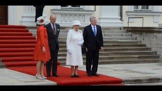 Queen 2015 in Berlin - Ankunft und Begrüßung im Schloss Bellevue