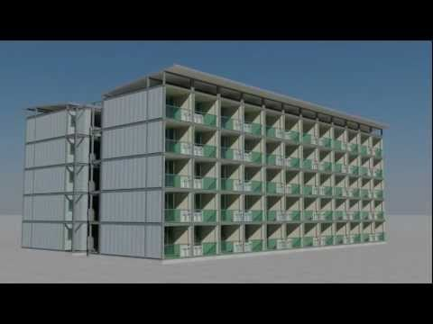 arkistruct's C1 Modular Panel Construction System for housing accommodation