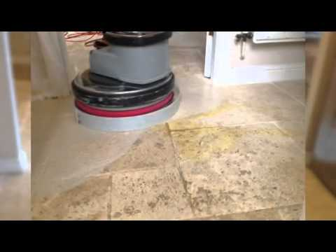 Cleaning And Sealing A Travertine Floor Youtube