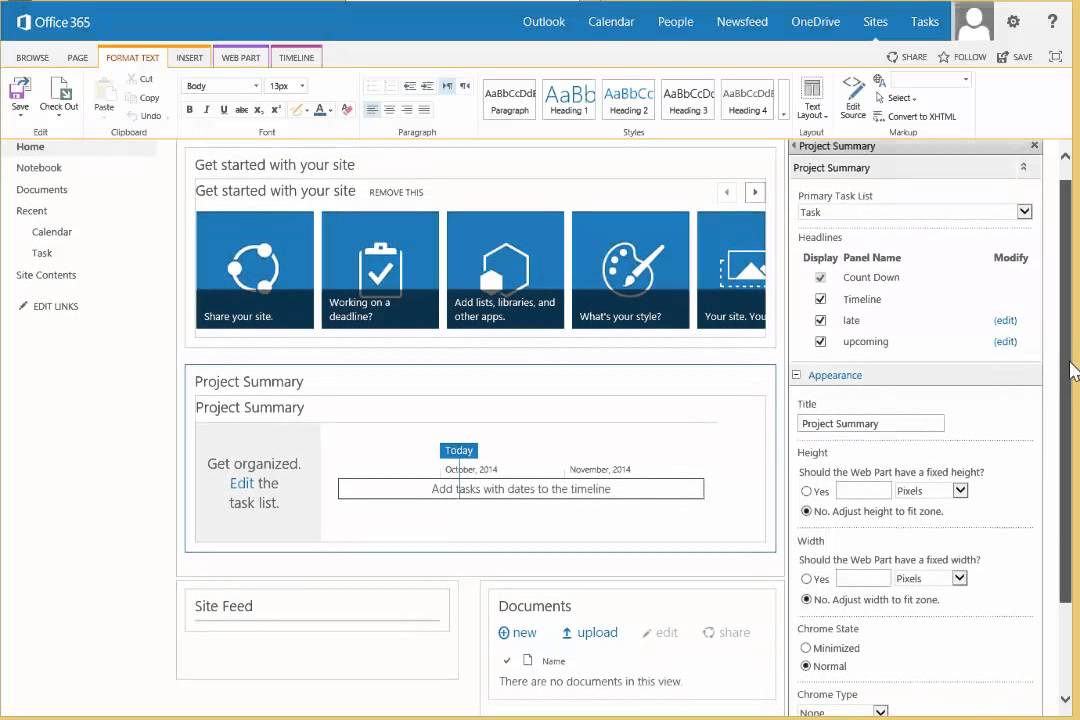 Create your own Project Site Template in SharePoint 2013 - YouTube