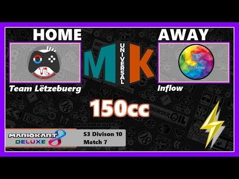 [Mario Kart 8 Deluxe] MKU Season 3 - Team Luxembourg vs. Inflow 111#