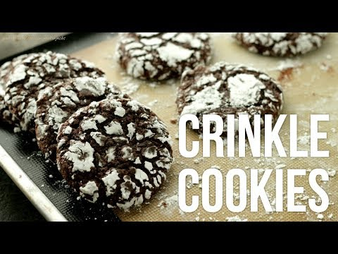 Fudgy Chocolate Crinkle Cookies!! How to Make Crinkles Recipe