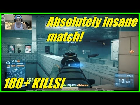 Battlefield 3 - Absolutely INSANE Back n forth match! 180+ kills! 39,000 points!