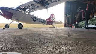 AC Aircraft Technology TUG pulling the mighty Bird Dog! The best and easy way to move your L19