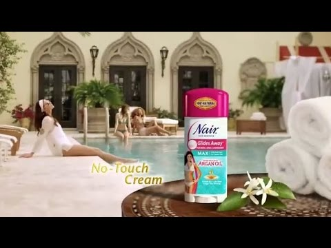 Moroccan Argan Oil Glide Away Nair Hair Remover Review And Demo