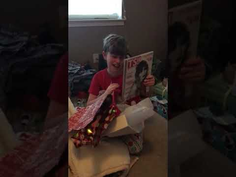 Grant's reaction to getting Taylor Swift tickets for Christmas