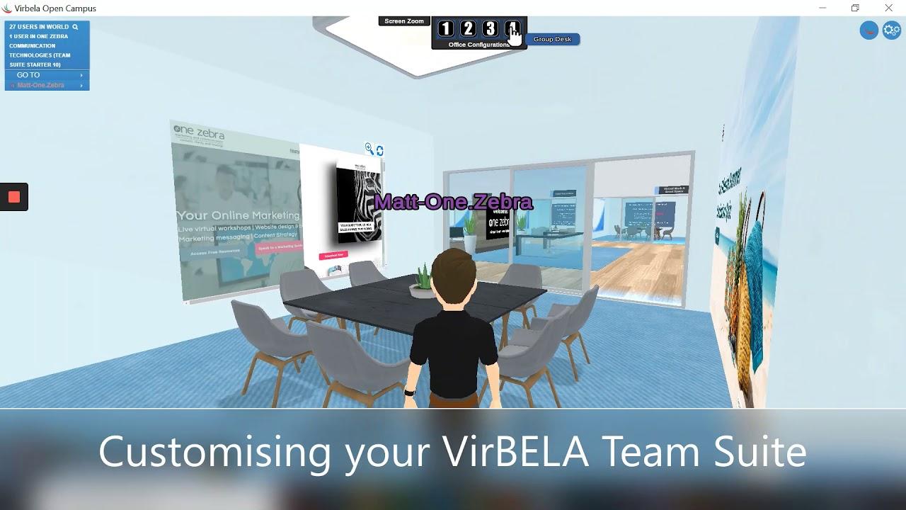 VirBELA Virtual Office Customisation