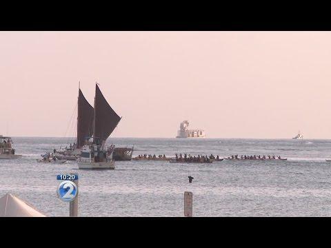 Hokulea: crewmembers in Honolulu, New Zealand in their sights
