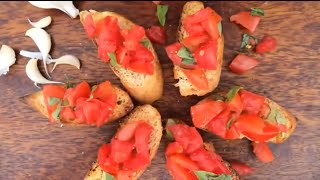Tomato and basil bruschetta Thumbnail