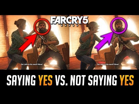 Far Cry 5 John Seed Saying Yes Vs Not Saying Yes Basically