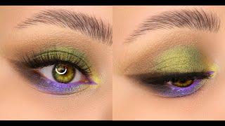 Зелёно сиреневый макияж с пигментами от Тамми Тануки