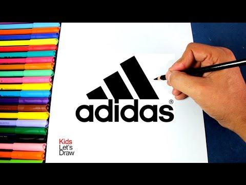 Cómo dibujar el logo de Adidas (Logotipo ADIDAS) | How to draw the ...