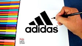 Cómo dibujar el logo de Adidas (Logotipo ADIDAS) | How to draw the Adidas Logo