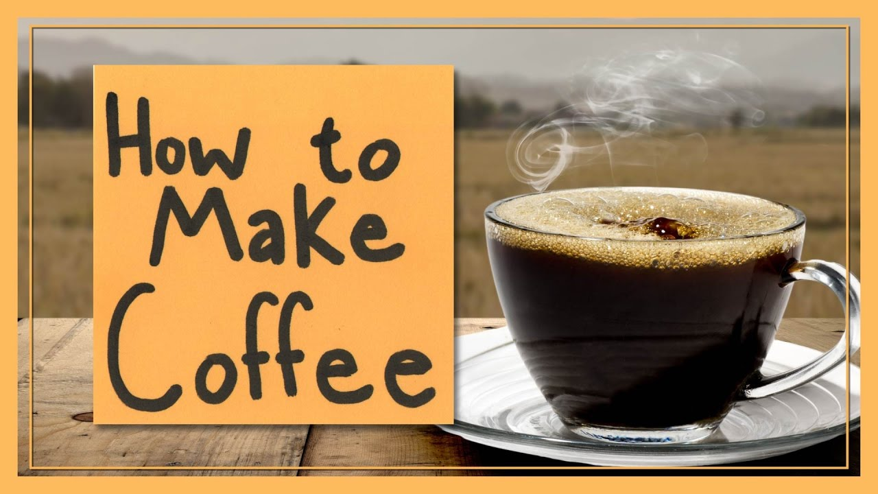 How to make coffee youtube How to make coffee with a coffee maker