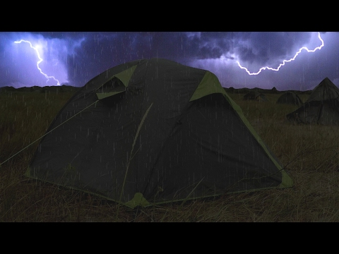 ⚡️ Thunderstorm & Rain On Tent Sounds For Sleeping ~ Lightni