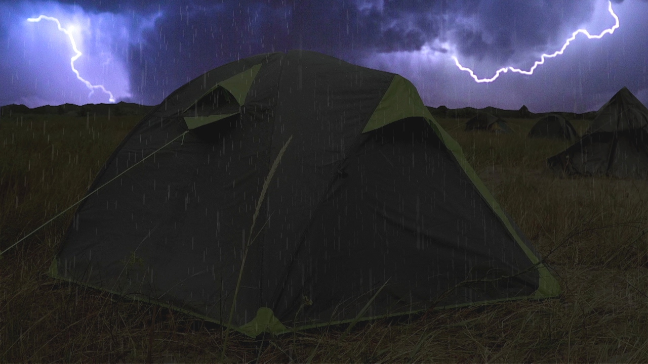 Thunderstorm u0026 Rain On Tent Sounds For Sleeping ~ Lightning Drops Downpour Canvas Ambience & ? Thunderstorm u0026 Rain On Tent Sounds For Sleeping ~ Lightning ...