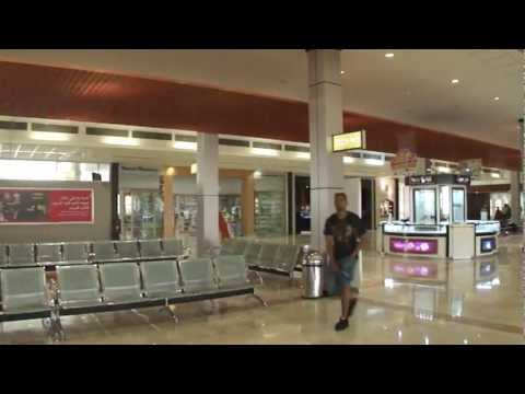 View inside Muscat International Airport departures waiting lounge, Oman; 30th May 2012