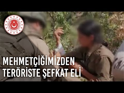 Mehmetçiğimizden Teröriste Şefkat