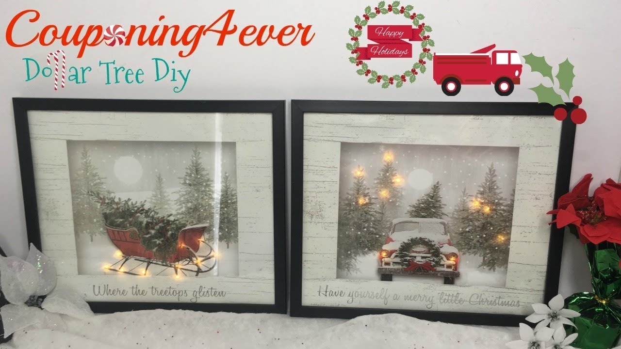 Dollar Tree Gift Bag Light Up Frames Youtube