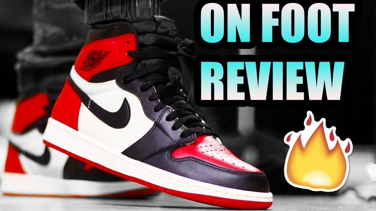 3d406b10210 Jordan 1 BRED TOE REVIEW ! | BRED TOE 1 On Foot + Black Toe Comparison !
