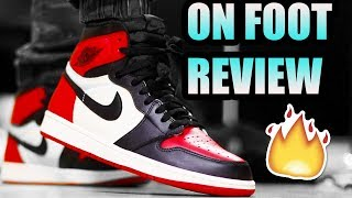 Jordan 1 BRED TOE REVIEW ! | BRED TOE 1 On Foot + Black Toe Comparison !