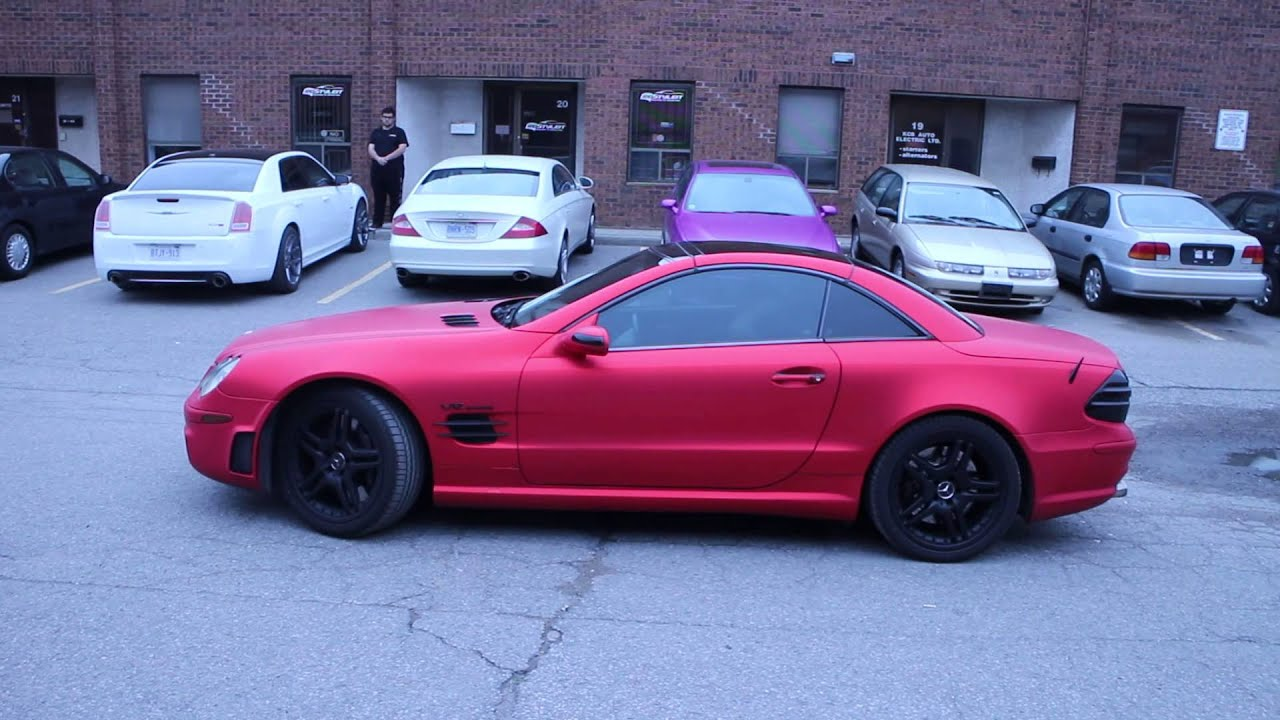Matte Red Chrome Mercedes Benz Sl65 By Restyle It