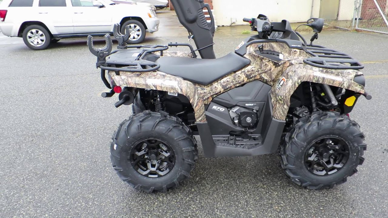 2016 Can Am Outlander L 570 Hunting Edition Review - YouTube