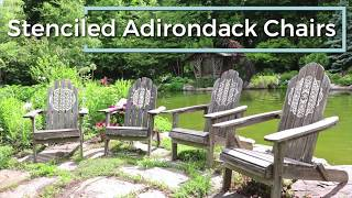 How-To Refurbish Old Adirondack Chairs With Mandala Stencils