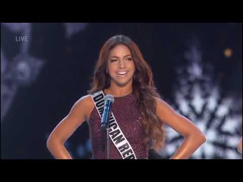 Aldy Bernard in Miss Universe 2018 - Dominican Republic
