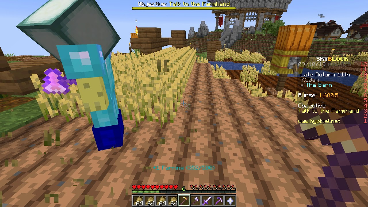 Grinding Farming Skill To Unlock Cactus Armor: Magzie Plays: Minecraft  Hypixel Skyblock! EP: 4