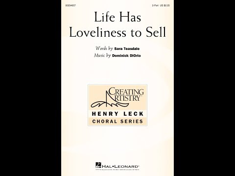Life Has Loveliness to Sell 2Part  Music  Dominick DiOrio