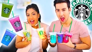 Download TASTING STARBUCKS SECRET MENU RAINBOW DRINKS! Mp3 and Videos