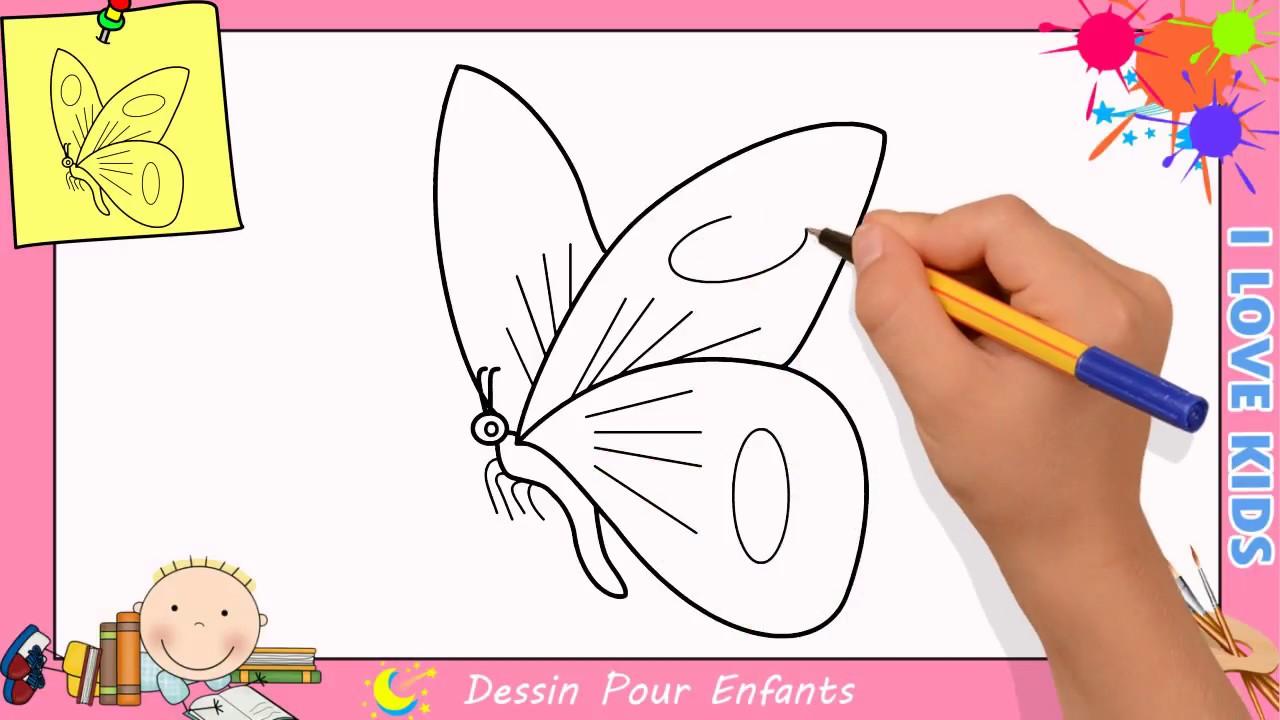 Dessin Papillon Fleur Photo De Profil