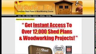 My Shed Plan Review - Download Over 12000 Woodworking Projects