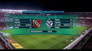 Fútbol en vivo. Independiente - Vélez. Fecha 30 Primera División 2015. FPT.