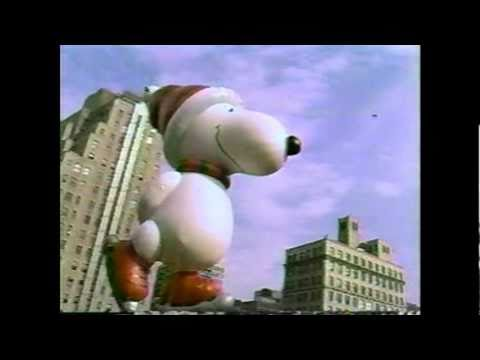 Snoopy Balloon At Macys Thanksgiving Day Parade 1987