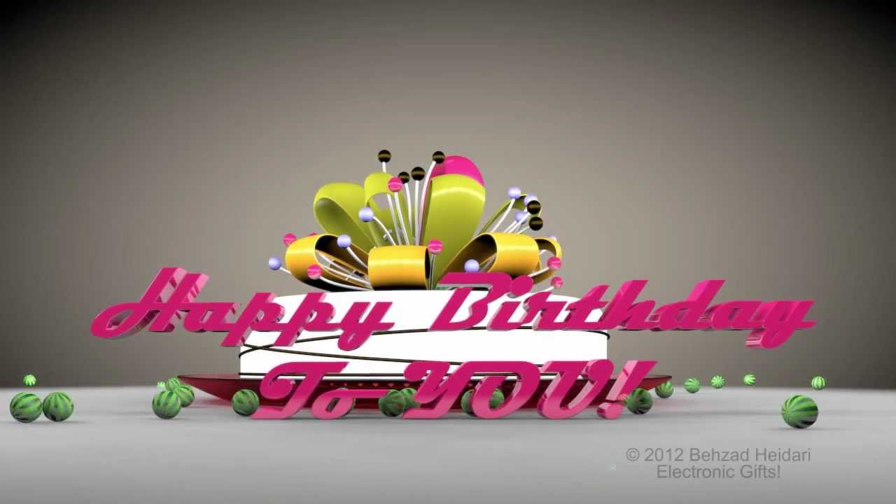 happy birthday to you hd d animated video greeting ecardcinema, Birthday card