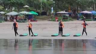 Бали, серфинг. Первый урок