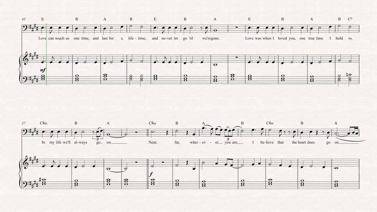 celine dion to love you more violin notes
