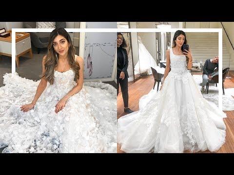 WEDDING DRESS SHOPPING...GETTING OVERWHELMED! | Amelia Liana