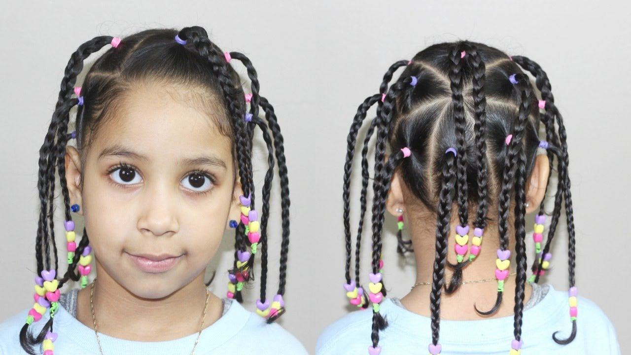 hairstyle with beads | hairstyles for kids