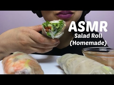 ASMR LET'S MAKE VIETNAMESE SALAD ROLL (EATING SOUND) | SAS-ASMR